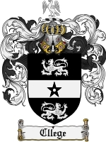 Primary image for Cllege Family Crest / Coat of Arms JPG or PDF Image Download