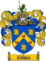 Primary image for Clowes Family Crest / Coat of Arms JPG or PDF Image Download