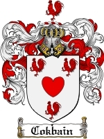 Cokbain Family Crest / Coat of Arms JPG or PDF Image Download