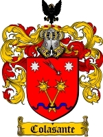 Primary image for Colasante Family Crest / Coat of Arms JPG or PDF Image Download