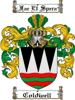 Primary image for Coldwell Family Crest / Coat of Arms JPG or PDF Image Download