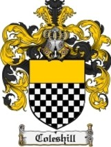 Coleshill Family Crest / Coat of Arms JPG or PDF Image Download - $6.99