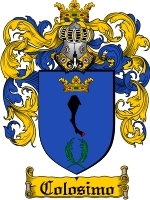 Primary image for Colosimo Family Crest / Coat of Arms JPG or PDF Image Download