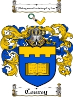 Conrey Family Crest / Coat of Arms JPG or PDF Image Download