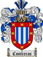 Contreras Family Crest / Coat of Arms JPG or PDF Image Download