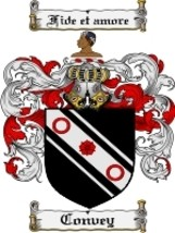 Convey Family Crest / Coat of Arms JPG or PDF Image Download - $6.99