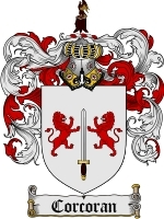 Primary image for Corcoran Family Crest / Coat of Arms JPG or PDF Image Download