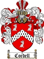 Cordell Family Crest / Coat of Arms JPG or PDF Image Download