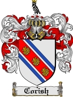 Primary image for Corish Family Crest / Coat of Arms JPG or PDF Image Download