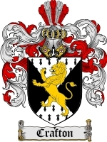 Primary image for Crafton Family Crest / Coat of Arms JPG or PDF Image Download