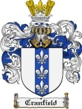 Cranfield Family Crest / Coat of Arms JPG or PDF Image Download - $6.99
