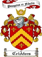 Primary image for Cridders Family Crest / Coat of Arms JPG or PDF Image Download