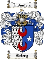 Criery Family Crest / Coat of Arms JPG or PDF Image Download