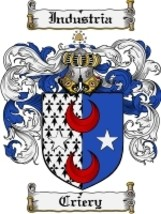 Criery Family Crest / Coat of Arms JPG or PDF Image Download - $6.99