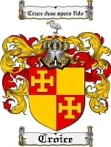 Croice Family Crest / Coat of Arms JPG or PDF Image Download - $6.99