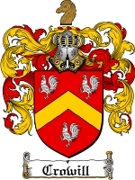 Primary image for Crowill Family Crest / Coat of Arms JPG or PDF Image Download