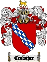 Primary image for Crowther Family Crest / Coat of Arms JPG or PDF Image Download