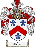 Cruel Family Crest / Coat of Arms JPG or PDF Image Download