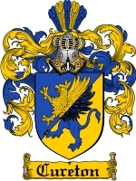 Cureton Family Crest / Coat of Arms JPG or PDF Image Download