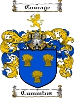 Cummins Family Crest / Coat of Arms JPG or PDF Image Download