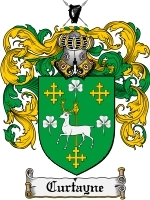 Primary image for Curtayne Family Crest / Coat of Arms JPG or PDF Image Download