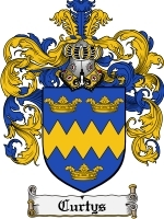 Primary image for Curtys Family Crest / Coat of Arms JPG or PDF Image Download