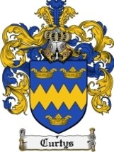 Curtys Family Crest / Coat of Arms JPG or PDF Image Download - $6.99