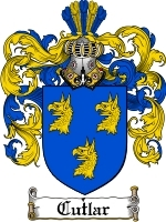 Cutlar Family Crest / Coat of Arms JPG or PDF Image Download