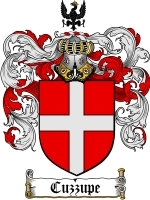 Cuzzupe Family Crest / Coat of Arms JPG or PDF Image Download