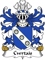 Cwrtais Family Crest / Coat of Arms JPG or PDF Image Download