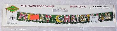 1987 Beistle Christmas Banner & 1994 Beistle Banner - All NIP