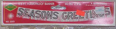 1989 Beistle Christmas Banner & 2 Dangling Mobiles - All NIPs