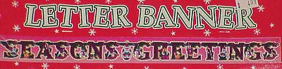 3 Packs Christmas Banners & Dangling Cutouts - NIP