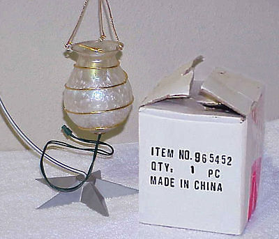 Electric Fairy Christmas Tree Glass 'Candle' Holder IOB - China