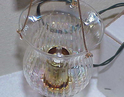 Electric Fairy Christmas Tree Glass 'Candle' Holder IOB - Taiwan for Silvestri