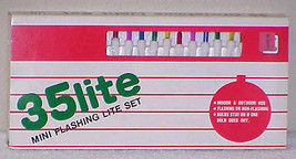 Vtg Christmas Lights - 35 Lite Mini Flashing Set NIB - Old Stock #1 - Ta... - $12.99