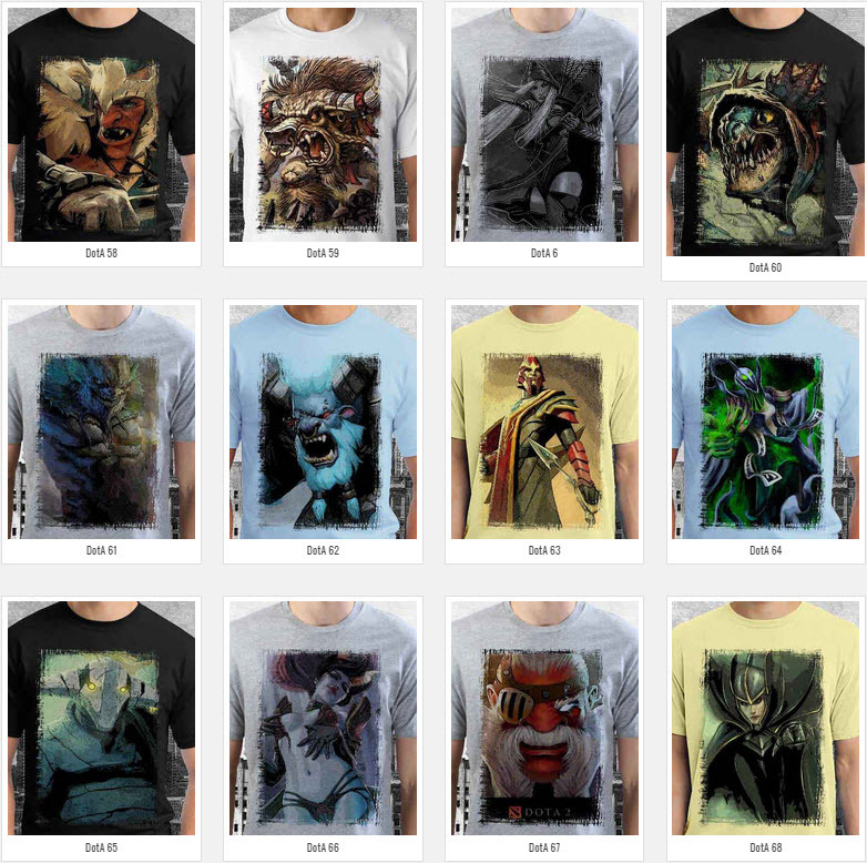 T Shirt Crystal Maiden DotA2 Theme Many Color
