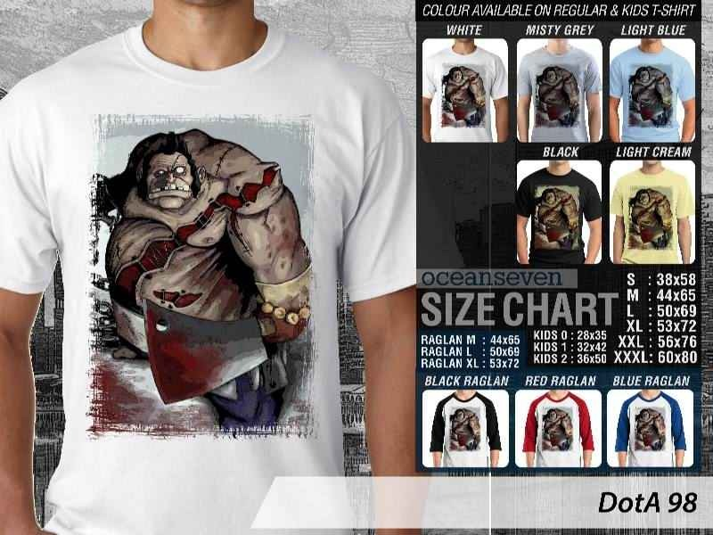 T Shirt Pudge DotA2 Theme Many Color