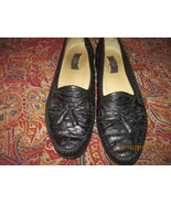 MEN'S ZELLI GENUINE OSTRICH SLIP-ON BLACK DRESS LOAFERS  W/ TASSELS, SIZ... - $55.00
