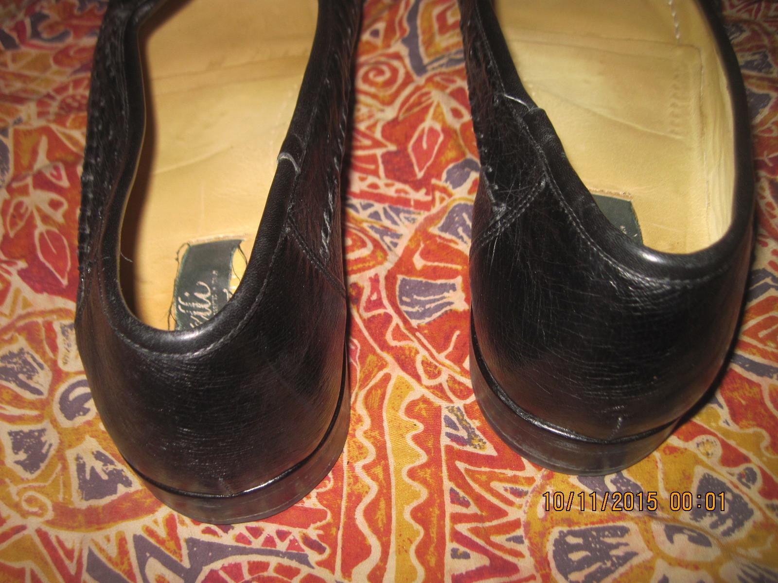 MEN'S ZELLI GENUINE OSTRICH SLIP-ON BLACK DRESS LOAFERS  W/ TASSELS, SIZE 13 M
