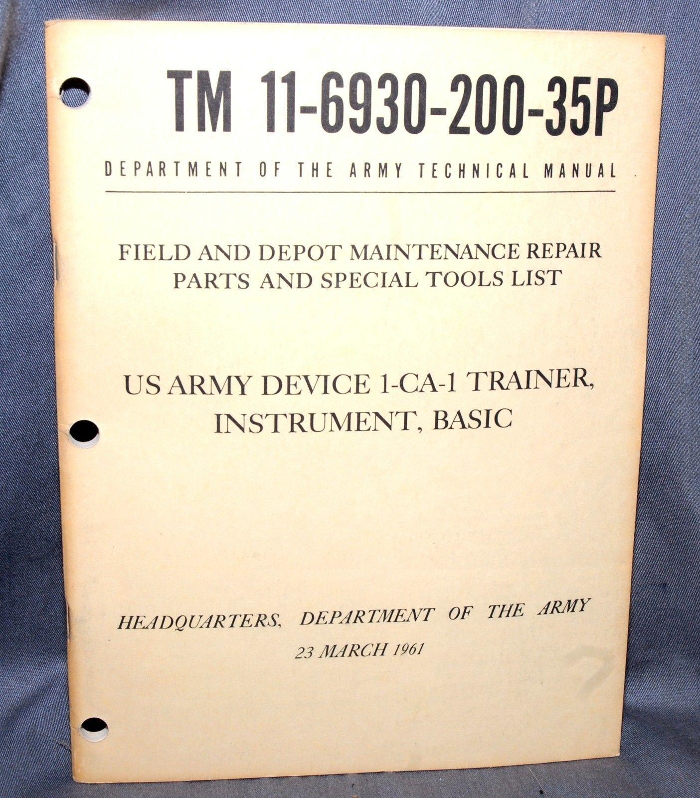 3 RARE LINK TRAINER SIMULAT. FLT. MANUALS:  OPERATOR, ORG. MAINT & DEPOT REPAIR
