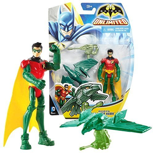 Batman Mattel Year 2014 DC Unlimited Series 4 Inch Tall Action Figure - ROBIN AN