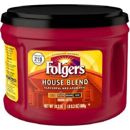 Folgers House Blend Ground Coffee Large Can