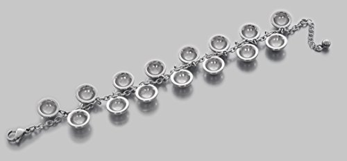 Beautiful JenniferLovey Silver Shiny Polished Fashion Bracelet with Circle Model