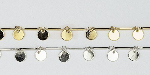 New Women Anklet Gold Plated Handmade Chain Geometric Circle by JenniferLovey