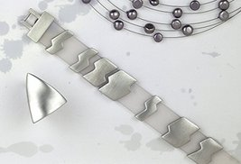 Lightning Silver Bracelet Rhodium Plated Unisex Teen Jewelry Men Classic... - $96.60