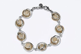 Women Elegant Jewelry Pearl Pearls Bracelet Gold Plated Handmade Jennife... - $101.09