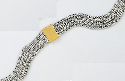 Primary image for Attractive JenniferLovey Gold & Rhodium Plated Bracelet Snake Women Jewelry
