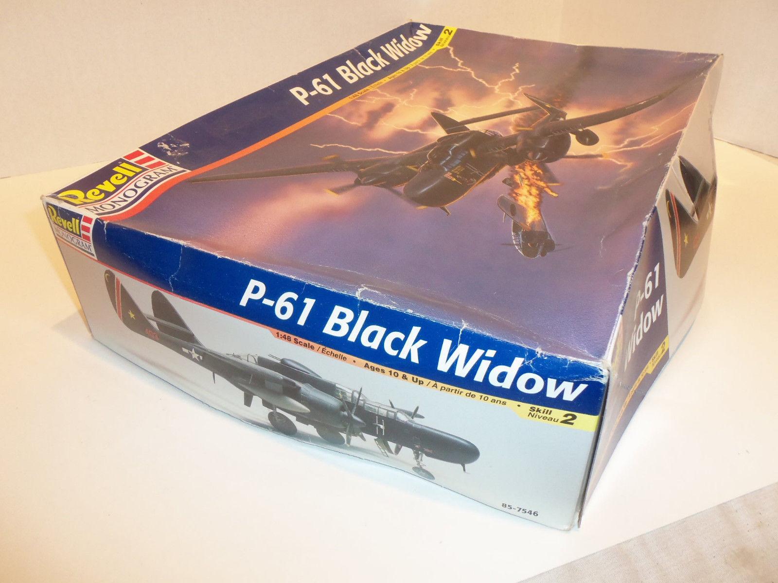 Vintage Revell Monogram 85-7546 NORTHROP P-61 Black Widow 1/48 Scale Model Kit