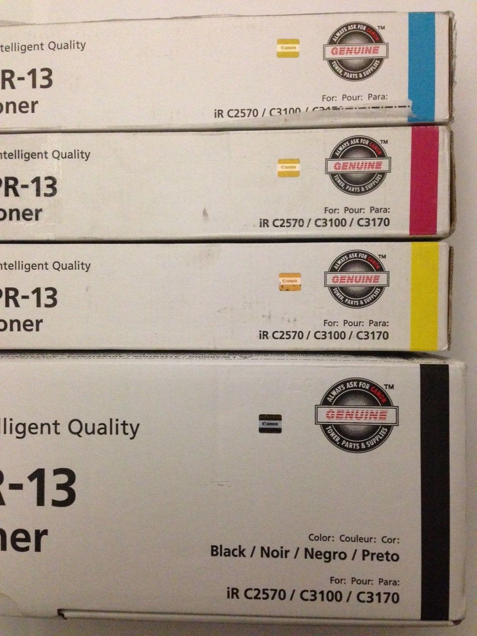 Genuine Canon GPR-13 CMYK Toner Set - For ImageRunner C2570 C3100 C3170